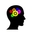 human brain in the form of a mechanism vector image