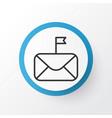 important mail icon symbol premium quality vector image