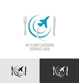In-flight catering logo vector image vector image