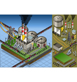 Isometric Petroleum Plant in Production of Energy vector image vector image