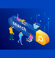 isometric search bar modern concept search engine vector image vector image