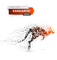 kangaroo dot onthe white background vector image vector image