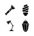 light source simple related icons vector image