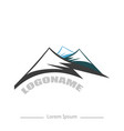 logo company with mountain flat design on white vector image vector image