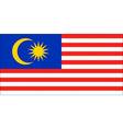 malaysian flag vector image vector image