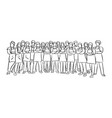 many chefs standing in arms crossed pose vector image