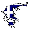 Map in colors of Greece vector image vector image