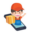 online delivery vector image vector image