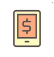 online mobile banking icon design 48x48 pixel vector image