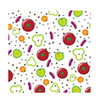 Patern with vegetables vector image