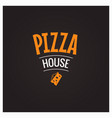 pizza house slice design background vector image
