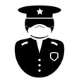 police officer icon black and white pictogram vector image