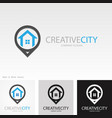position home creative logo vector image