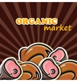 poultry and meat organic food concept vector image vector image