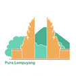 pura lempuyang temple on background of vector image vector image