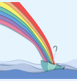 rainbow go direct to umbrella vector image vector image