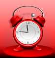 Red Alarm Clock Ringing Wildly vector image vector image
