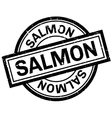 Salmon rubber stamp vector image vector image