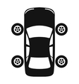 Service and repair car wheel flat icon vector image