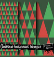 set of christmas backgrounds from triangles vector image vector image