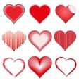 Set of symbol hearts vector image vector image