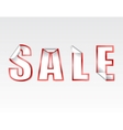sign silver SALE sticker vector image vector image