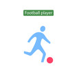 soccer player icon flat vector image vector image