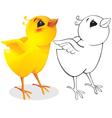 surprised chicken vector image vector image