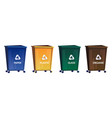 trash bins for separate and recycle garbage vector image
