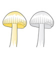 two mushrooms isolated on the white vector image vector image