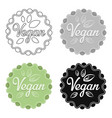 vegan icon in cartoon style isolated on white vector image vector image