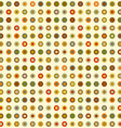 vintage seamless background round elements dots vector image vector image