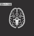 black and white style icon of brain vector image