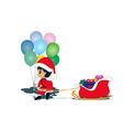 Children as Santa Claus vector image