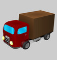 a cartoon truck in isometric vector image vector image