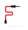 alphabet f letter logo formed jack cable vector image vector image