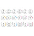 ask me love letter and hold heart icons set atom vector image vector image
