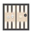 bacgammon vector image