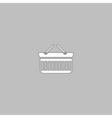 basket computer symbol vector image