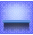 Blue Wall Shelf vector image