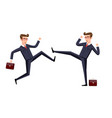 Business fight club karate businesspeople and