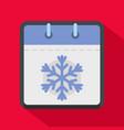 calendar winter icon flat style vector image