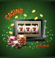 casino realistic composition vector image vector image