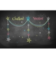 Christmas garland with stars vector image vector image