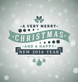 Christmas Postcard Decoration with Vintage vector image vector image