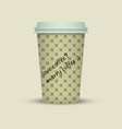 coffee cup with words love coffee marry coffee vector image