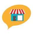 commercial store vector image vector image