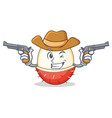 cowboy rambutan character cartoon style vector image vector image