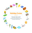 cruise ships travel and tourism concept banner vector image vector image