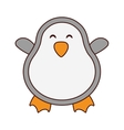 cute penguin character isolated icon vector image vector image